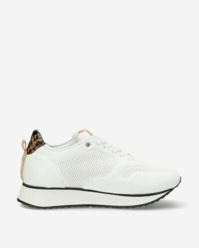 White sneaker with crocodile patch