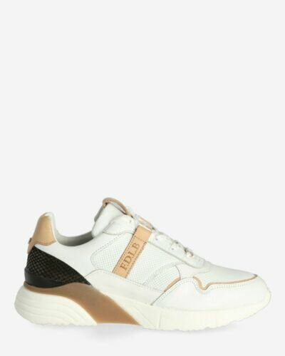 White smooth leather sneaker