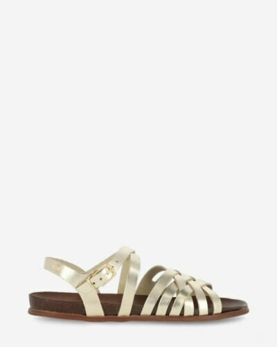 Sandal smooth leather gold
