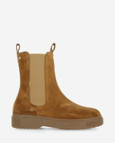 Chelsea boot suede warm brown