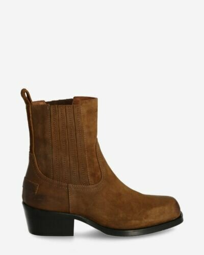 Chelsea boot waxed suede brown