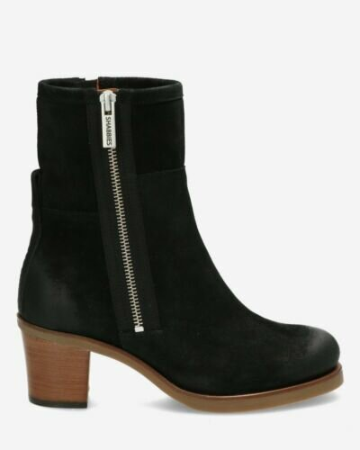 Boot waxed suede black