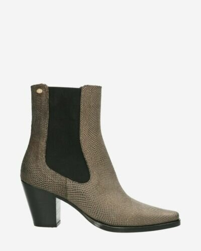 Chelsea boot printed hand buffed leather gold