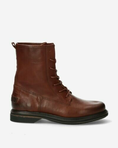 Biker boots smooth leather brown