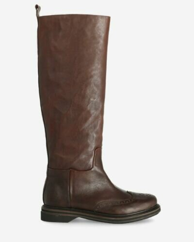 Boot smooth leather dark brown
