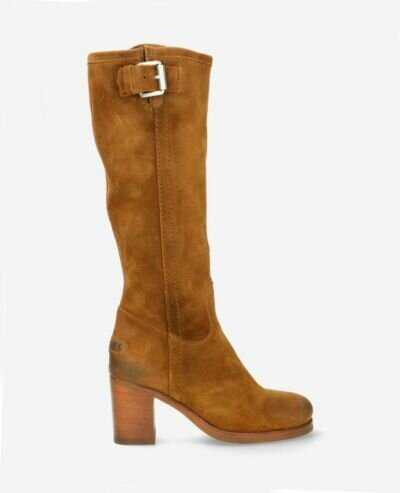 Boot waxed suede brown