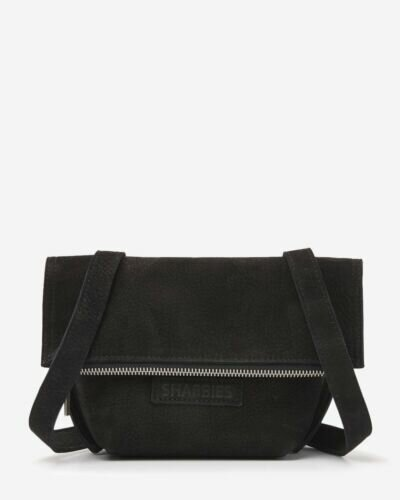 Small shoulderbag hand buffed leather black