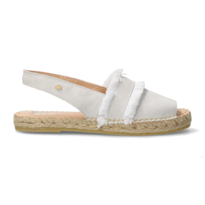 Espadrille-sandal-suede-with-fringes-off-white