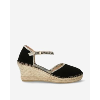 Black-suede-espadrille-wedges-with-snake-print