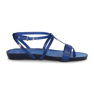 Sandal-smooth-leather-Cobalt-Blue
