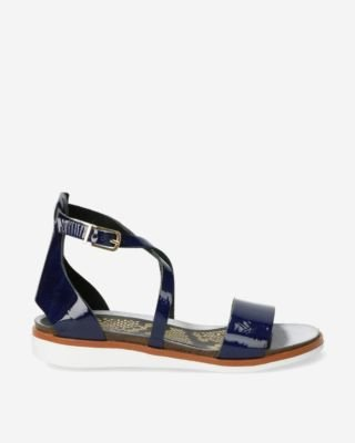 Navy-leather-sandal