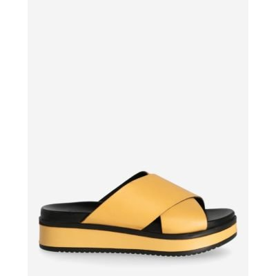 Yellow-slipper-with-leather-sole