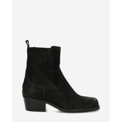 Chelsea boot waxed suede black