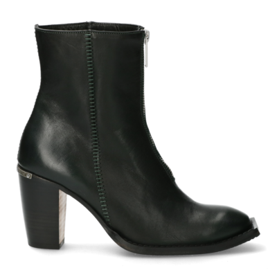 Ankle-boot-with-zipper-on-top-dark-green