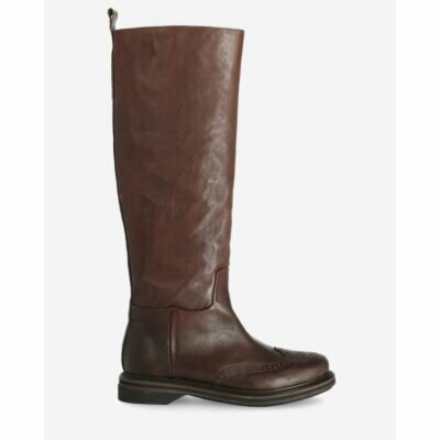 Boot-smooth-leather-dark-brown