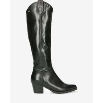 Western-boot-soft-smooth-leather-black