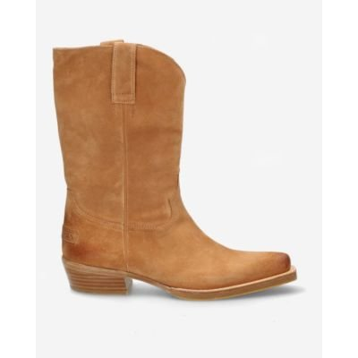 Light-brown-suede-western-boot