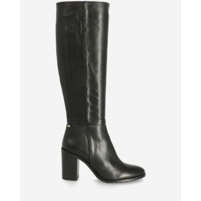 Heeled-boot-soft-grain-leather-black