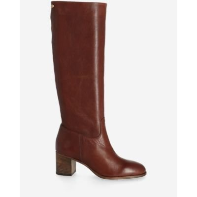 Boot-soft-smooth-leather-dark-brown