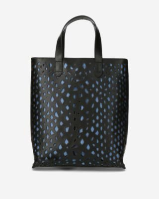 Black-perforated-handbag-python
