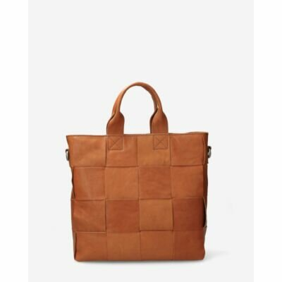 Brown-woven-leather-handbag
