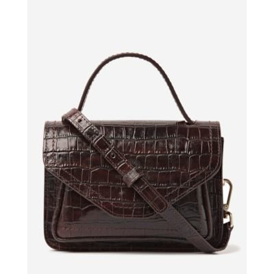 Crossbody-croco-print-dark-brown