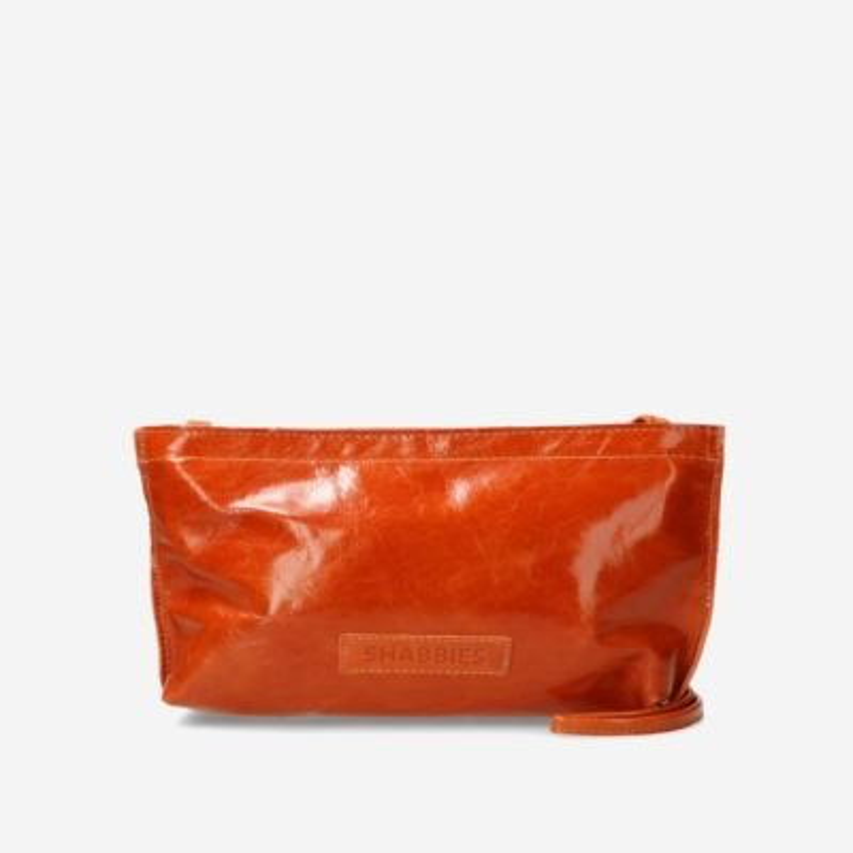 Oranje-lakleren-crossbody-tas
