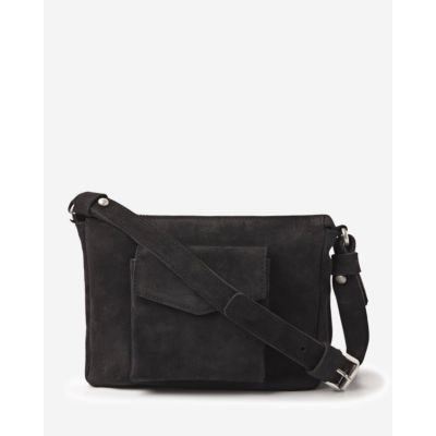 Shoulderbag-waxed-suede-black
