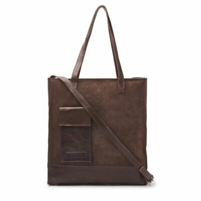 Shopper-waxed-suede-Dark-Brown