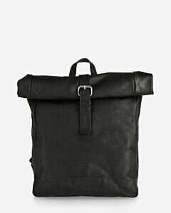 Backpack structure leather black