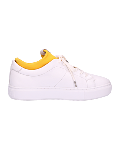 SNEAKER-SMOOTH-LEATHER-WITH-NEOPRENE-White-Yellow