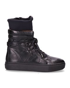 Sneaker-smooth-leather-with-neopreme-Black