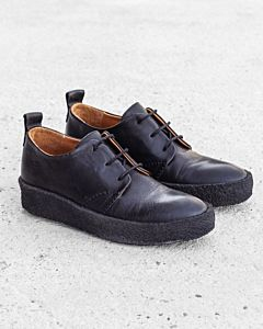 Lace-up-shoe-smooth-leather-Black