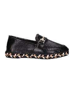 Espadrille-loafer-shiny-printed-leather-Black