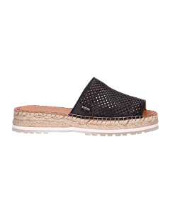 Slipper-perforated-smooth-leather-Black-