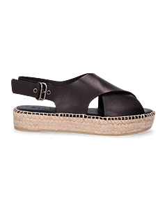 Espadrille-sandal-smooth-leather-black