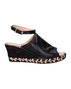 Espadrille-shiny-printed-leather-Black-