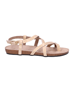 Sandal-shiny-printed-leather-gold