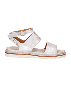 Sandal-shiny-printed-leather-Silver