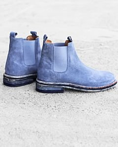 Chelsea-boot-suede-Jeans-Blue