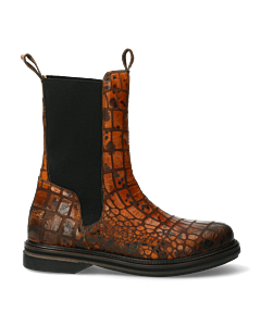 Chelsea-boot-with-croco-orange