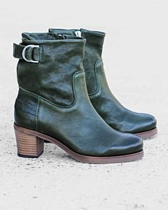 Heeled-ankle-boot-smooth-leather-green