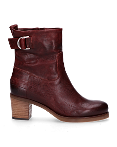 Ankle-boot-with-buckle-red-brown