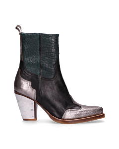 3255e21f20a Sisterhood-Western-ankle-boot-Silver,-Black-&-Dark