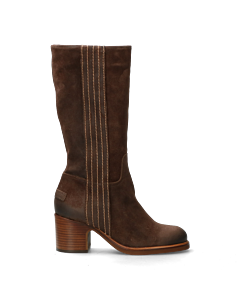 Boot-from-suede-dark-brown
