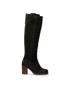Heeled-boot-waxed-suede-black