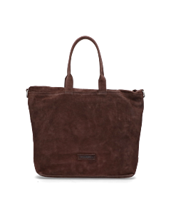 Shopper-waxed-suede-with-grain-leather-Dark-Brown