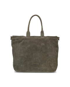 Shopper-waxed-suede-with-grain-leather-Green