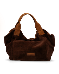 Handbag-double-face-with-waxed-suede-Brown