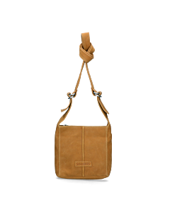 Shoulderbag-waxed-grain-leather-Light-Brown